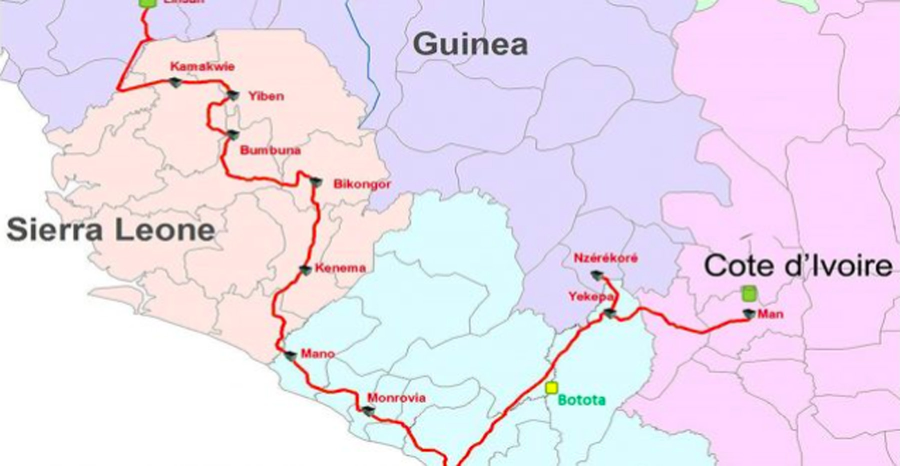 west africa shipping agent project map
